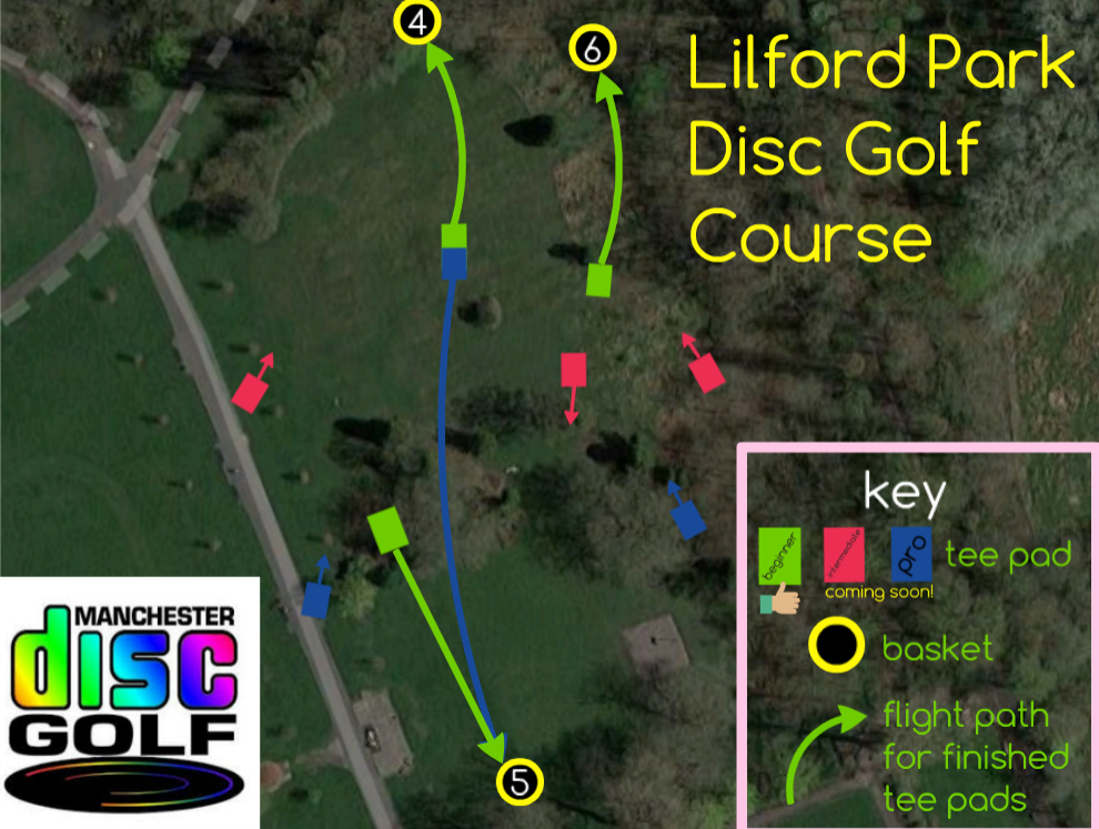 Lilford Park Disc Golf Test Holes